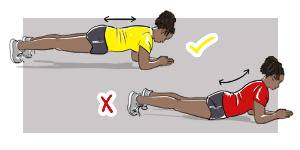 Girl Showing Proper Form While Doing A Plank Workout